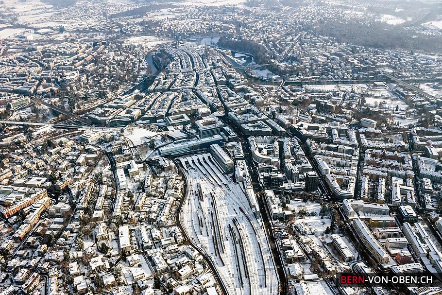 Fotos Von Modernen Bdern : Luftaufnahmen Bern Im Winter Von Oben Thomas  Hodel