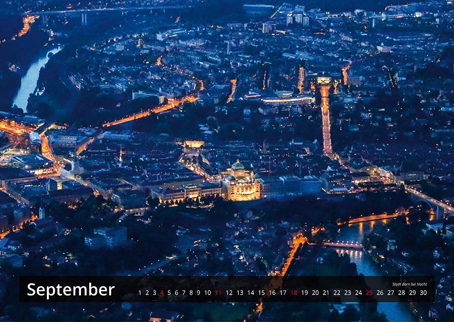 Bern von oben-Kalender 2016