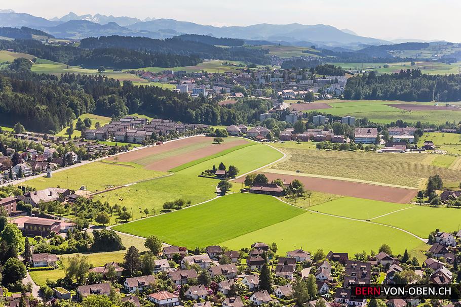 Blinzern, Spiegel, Bern, Luftaufnahme