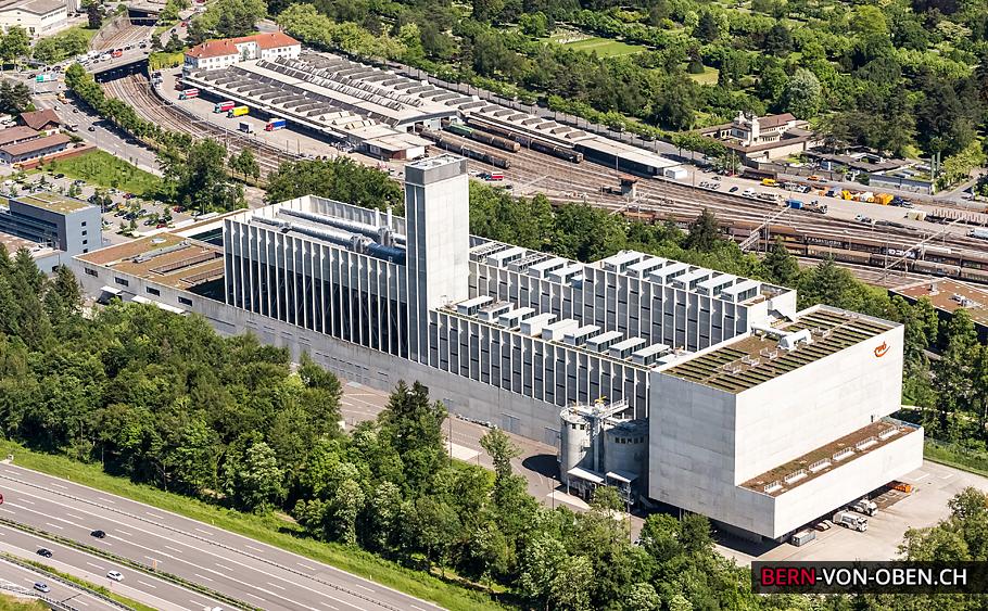 Forsthaus, ewb, Bern, Luftaufnahme