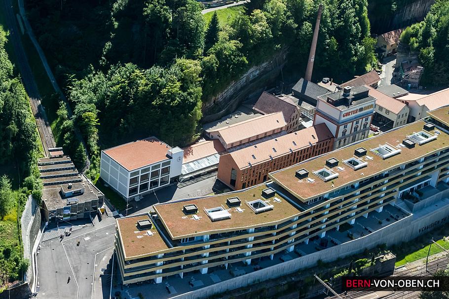 Gurtenareal, Gurtenbrauerei, Bern, Luftaufnahme