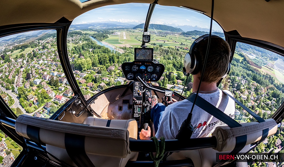 Helikopter Mountainflyers, Bern, Luftaufnahme