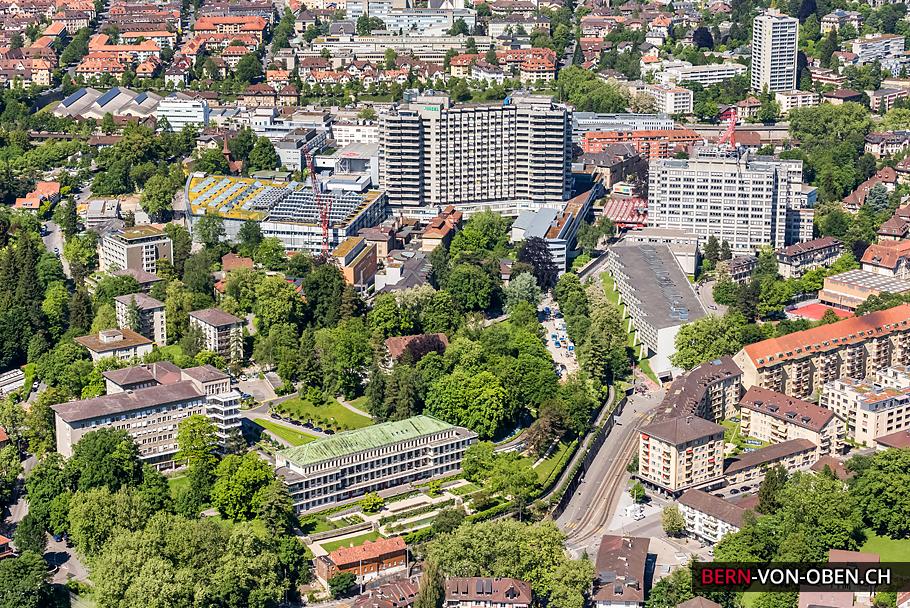 Inselspital, Bern, Luftaufnahme