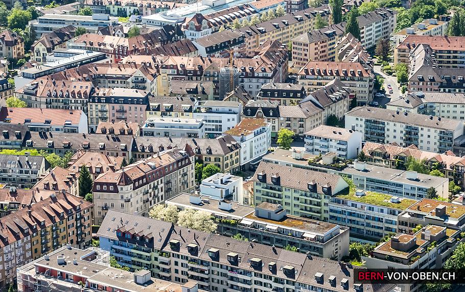 Länggasse, Bern, Luftaufnahme