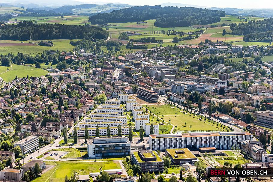 Liebefeld, Köniz, Bern, Luftaufnahme
