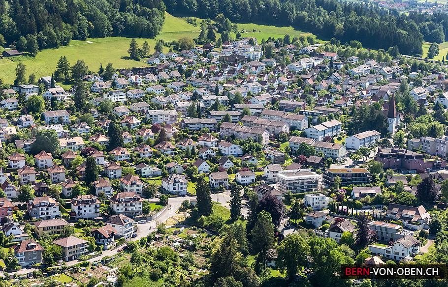 Spiegel bei Bern, Köniz, Bern, Luftaufnahme