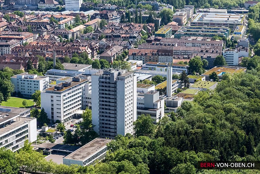 Spital Lindenhof, Bern, Luftaufnahme