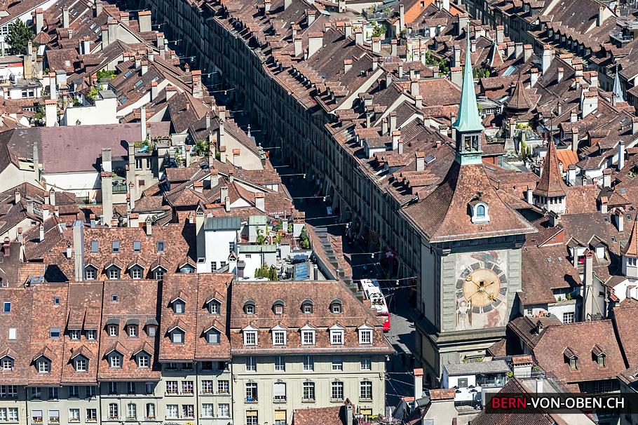 Zytglogge, Altstadt, Bern, Luftaufnahme