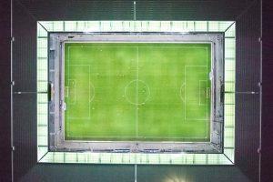 Wankdorfstadion, Nacht, Luftaufnahme