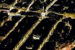 Zytglogge, Luftaufnahme, Nacht