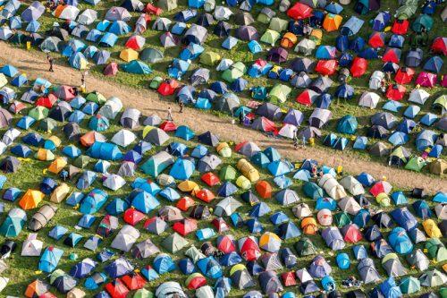 Gurtenfestival, Luftaufnahme, Zeltplatz