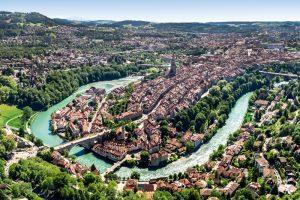 Bern, Luftaufnahme, Aare, Altstadt