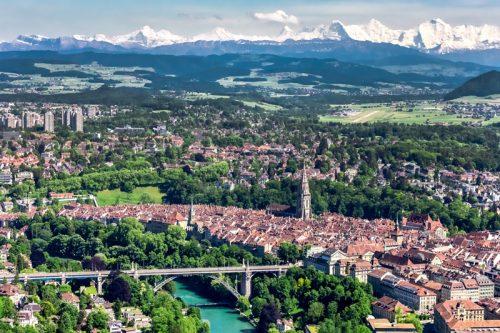 Bern, Luftaufnahme, Alpen, Altstadt