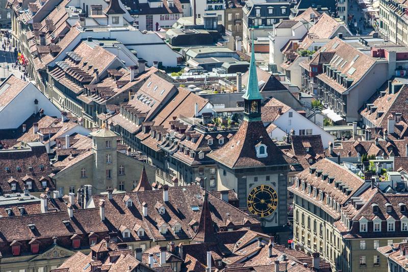 Zytglogge, Bern, Luftaufnahme