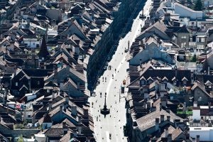 Bern, Luftaufnahme, Altstadt