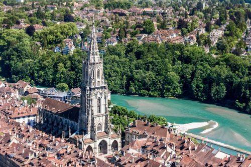 Münster, Luftaufnahme, Bern