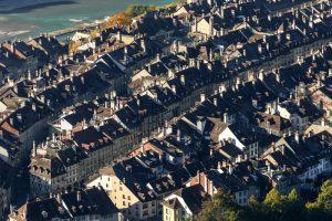 Altstadt, Bern, Herbst, Luftaufnahme