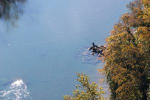 Aare, Fischer, Luftaufnahme, Bern, Herbst