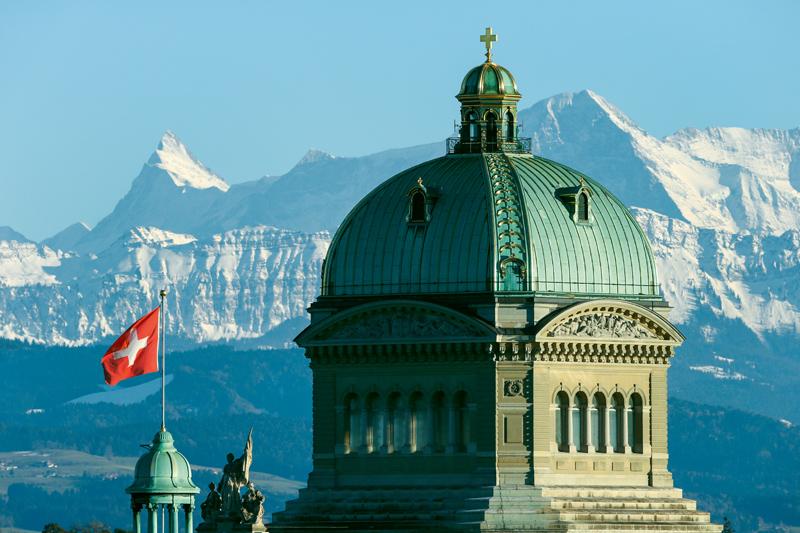Bundeshaus, Alpen, Bern