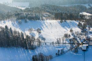 Gurten, Winter, Luftaufnahme, Bern