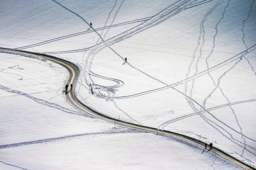 Gurten, Wandern, Spazieren, Winter, Luftaufnahme