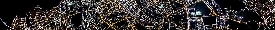 Luftaufnahme Bern bei Nacht